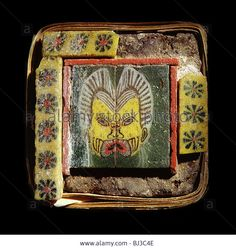 Furniture inlay of glass tiles, Ancient Egyptian, Ptolemaic Period, c 2nd-1st century B.C.