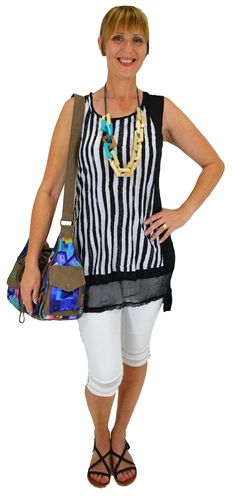 Stripe Tunic_Best selection of Tunics & matching accessories ~ Flat postage worldwide ~ Petite to Plus sizes ~ www.ilovetunics.com