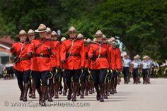 RCMP troops on parade square at Depot in Regina, Saskatchewan