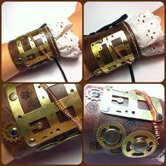 Steampunk+bracelet+by+EdithEnDat+on+Etsy