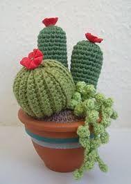 Resultado de imagen para cactus tejidos al crochet