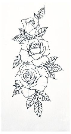Arm Tattoo, Sleeve Tattoos, Art Drawings Sketches, Tattoo Drawings, Rose Tattoo Stencil, Tattoo Style, Flower Tattoo Designs, Rose Tattoos, Coloring Pages
