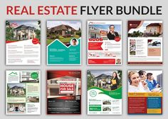 Real Estate Flyer Bundle Templates by AfzaalGraphics on @creativemarket