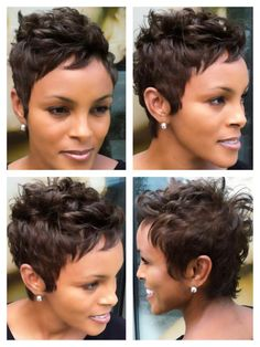 ULTRA SEXY Short Halle Berry inspired pixie cut! Perfect for a woman with a gorgeous bone structure who wants to show off her amazing face! www.gmichaelsalon.com