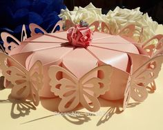 Pink Butterfly Cake Boxes