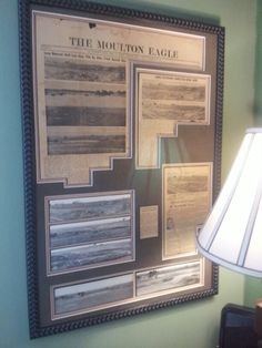neat way to frame a newspaper article