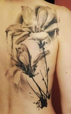 Black and white watercolor tattoo. by madeleine