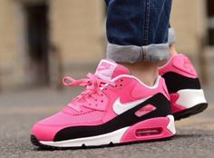 timeless design b7341 1e49a Air Max 90 Womens Large mesh black and red New color debut