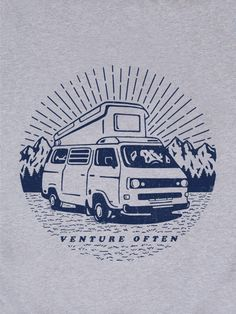 Camper van t-shirt print The Level Collective