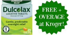 FREE Dulcolax Products + $5.43 OVERAGE at Kroger!