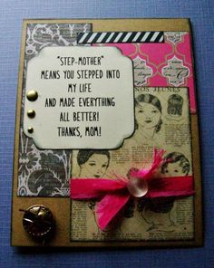 Mothers Day card for Step mom Happy Mothers Day step mother
