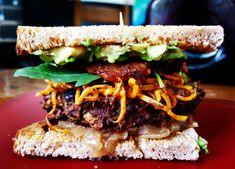 Smoky Black Bean Zucchini Burger