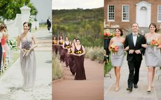 Happy Monday, friends! I hope this new week finds you well.Left: Samm Blake via Style Me Pretty Middle: Paula Luna via Style Me Pretty Right: Abby Jiu Photography via Style Me PrettyToday I have some fantastic processional songs for your lovely bridesmaids (and strapping groomsmen, if you so…