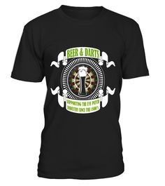 Beer and darts T-shirt - supporting the eye patch industry