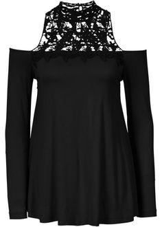 Top, BODYFLIRT boutique, zwart