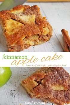 This easy, low-carb cinnamon apple crumb cake is everything you love about fall in one recipe! Enjoy the warmth from the cinnamon, sweetness from the apples, slight hints of lemon and crumb top! Keto Apple Recipes, Almond Flour Recipes, Low Carb Recipes, Apple Cinnamon Cake, Apple Crumb Cakes, Low Sugar Cakes, Jewish Apple Cakes, Easy Snacks, Dessert Recipes