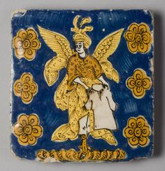 Philadelphia Museum of Art - Collections Object : Tile with Saint Michael Holding a Tunic, from the Church of San Miguel, Puebla