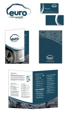 """Diseño de Isologotipo y folletería para la firma """"Euro Wash"""""""