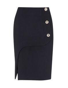 BLANCO SS12  Falda Botones con Abertura  29,99€ en rebajas 14,99€  Color: negro  Ref. 082203001