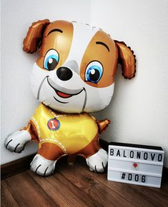 Foil balloon - PUPPY (yellow)