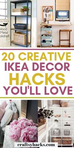 Try these ikea ideas and enjoy decorating on a low budget. These ikea hacks are beautiful, practical and will transform your home design. Ikea Furniture Hacks, Furniture Makeover, Home Furniture, Ikea Hacks, Plywood Furniture, Modern Furniture, Furniture Design, Ikea Decor, Tv Decor