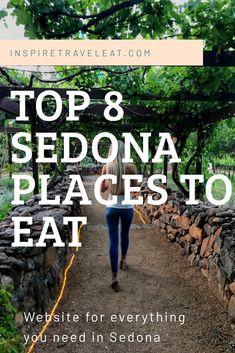 Top 8 Restaurants In Sedona Sedona Arizona, Arizona Road Trip, Arizona Travel, Jerome Arizona, Scottsdale Arizona, Sedona Restaurants, Places To Travel, Travel Destinations, Trip To Grand Canyon