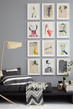 Adorn with photos: concepts to rearrange Bedroom Murals, Bedroom Loft, Tiny Living Rooms, Home And Living, Create A Person, Corridor Design, Couch Set, Roof Light, Interior Decorating
