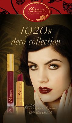 Noir Red is back! 1920s vintage lip color with matching Black licorice flavored glaze