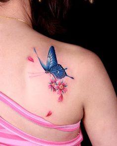 #butterfly #tattoo loves flower