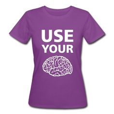Tee shirt  Use Your Brain - Drôle / Slogan / #cloth #cute #kids# #funny #hipster #nerd #geek #awesome #gift #shop Thanks.