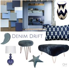 Dulux's Colour of 2017 Room Colors, House Colors, Paint Colours, Denim Furniture, Denim Drift, Single Bedroom, Blue Bedroom, Master Bedroom, Front Rooms