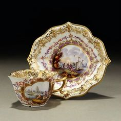 Meissen Porcelain Manufactory (Germany) —  Cup and Saucer ,18th century  (700x703)