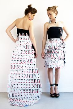 Poker skirts...love this short one! More