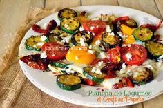 Plancha legume de courgettes poivrons grillés et œufs paprika de Gut