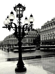 Paris in the Rain View from the Garnier Opera