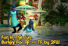 Fun in the Sun - Burkini for AF & TF - Two Fingers Whiskey