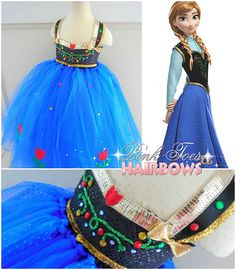 Anna tutu dress frozen costume anna costume frozen birthday party