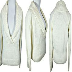 Ann Taylor LOFT Alpaca Blend Knit Sweater Beautiful Stretchy Knit Anne Taylor Sweater, Off White/Cream Color, Size M (12-14), Very Stretchy, 72% Acrylic, 25% Alpaca, 3% Wool, Worn a few times but in great condition Ann Taylor Sweaters V-Necks