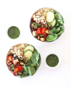 Moroccan-syle easy, healthy vegetable summer salad on Clean Food Dirty City.