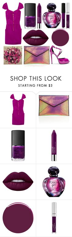 """""""Sans titre #6178"""" by crazymoustik ❤ liked on Polyvore featuring Temperley London, Barbara Bui, Rebecca Minkoff, NARS Cosmetics, Clinique, Lime Crime, Christian Dior, Nails Inc. and GUESS"""