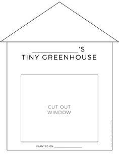 Tiny Greenhouse Activity - Free Printable