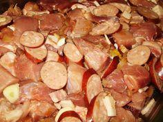 Ražniči na plechu • recept • bonvivani.sk Meat, Recipes, Food, Recipies, Essen, Meals, Ripped Recipes, Yemek, Cooking Recipes