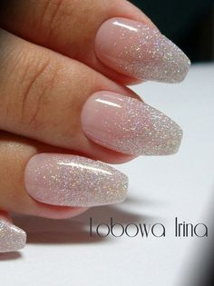 French Fade With Nude And White Ombre Acrylic Nails Coffin Nails Latest Fash. - French Fade With Nude And White Ombre Acrylic Nails Coffin Nails Latest Fashion Trends for Wome - Manicure Nail Designs, Nail Manicure, Nail Art Designs, Manicures, Nail Polish, Faded Nails, Gold Nails, Gold Glitter, Sparkly Acrylic Nails