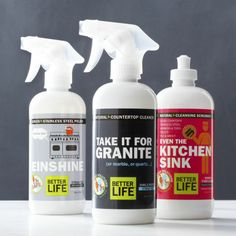 Better Life™ Natural Countertop Cleaner, Stainless Steel Polish, and Kitchen and Bath Scrubber  | Crate and Barrel