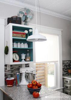 5 Clever Vintage Farmhouse Kitchen Storage Ideas by RobbRestyle.com