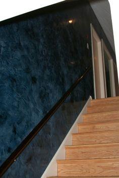 Venetian plaster hallway - veneshe.com