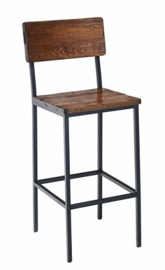 2 Day Designs Reclaimed Wine2Night Stave Back Bar Stool
