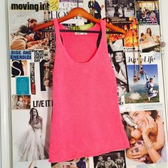 Hot pink sweater tank Impulse buy never worn. Now a great unique addition to your closet. Old Navy Tops