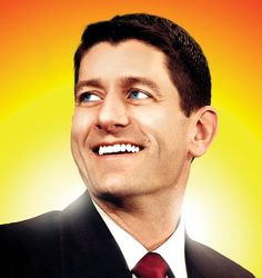 "The Legendary Paul Ryan ~ I notice several people have repinned this, apparently naively believing it to praise Ryan.  That glowing halo is meant to be ironic.  Consider this quote: ""The persistent belief in the existence of an authentic, deficit hawk Ryan not only sweeps aside the ugly particulars of his agenda, it also ignores, well, pretty much everything he has done in his entire career, and pretty much everything he has said until about two years ago."""
