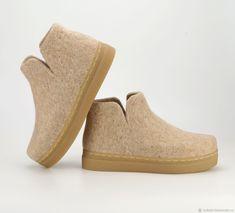 """Валяные ботиночки """"Крем-Брюле"""" – купить в интернет-магазине на Ярмарке Мастеров с доставкой"""
